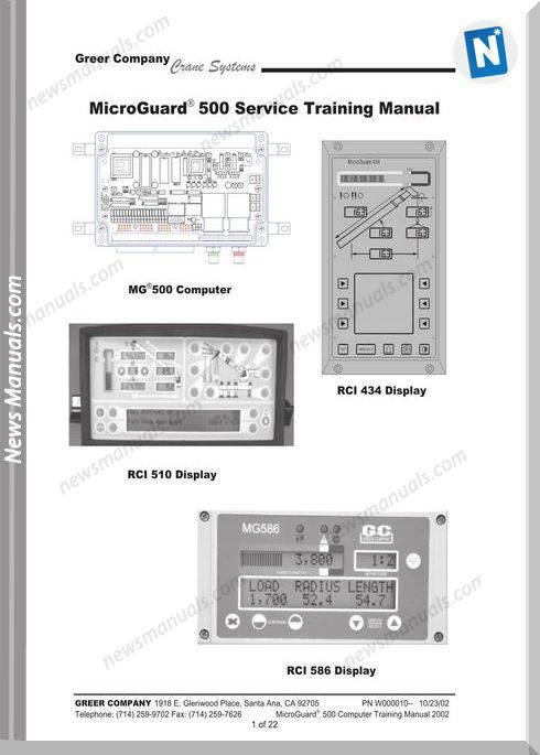 Terex Mg500 Models Service Training