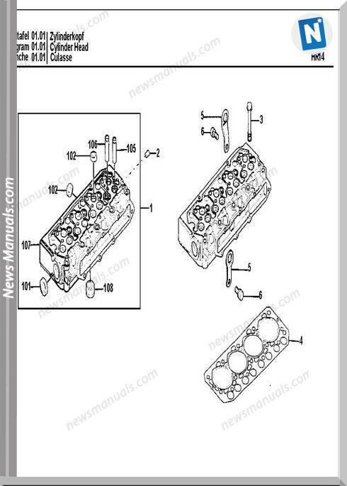 Terex Schaeff Engine S4L2-61Kl-Hr16 Parts Catalog