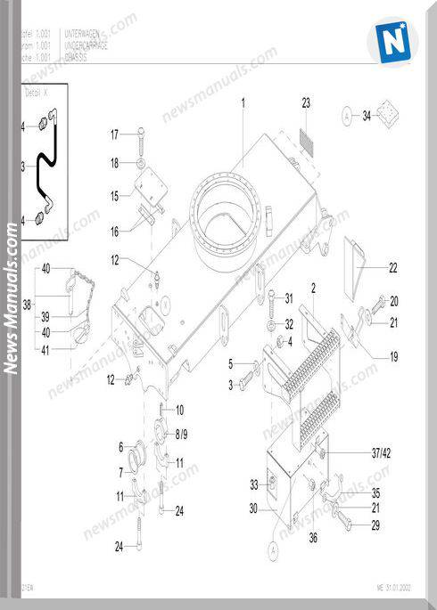 Terex Schaeff Hml42 Parts Catalog