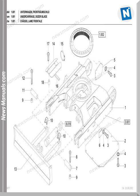 Terex Schaeff Hr 20 Parts Catalog