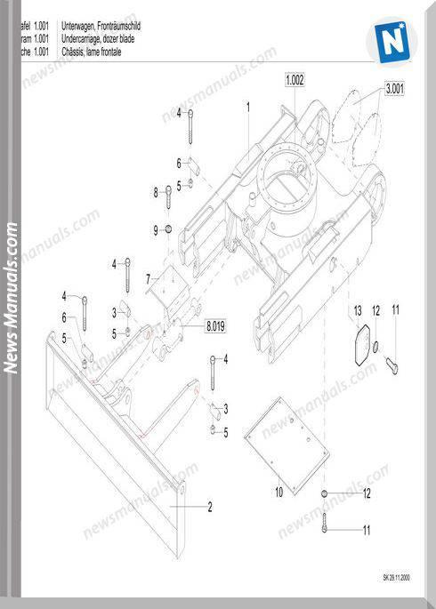 Terex Schaeff Hr11 Parts Catalog