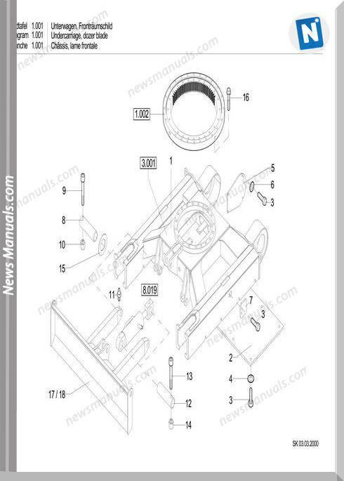 Terex Schaeff Hr14-356-1816 Parts Catalog