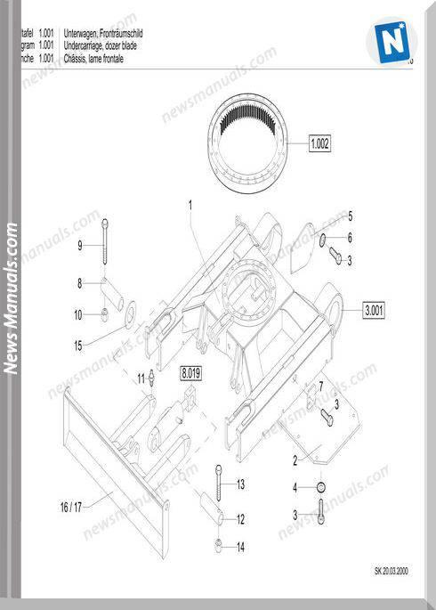 Terex Schaeff Hr16-358-2065 Parts Catalog