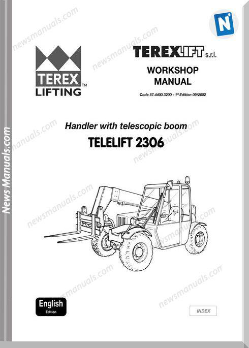 Terex Telescopic Boom Telelift 2306 Workshop Manual