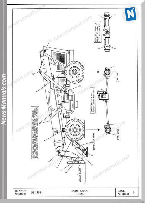 Terex Th1056C Models Parts Catalogue Manuals