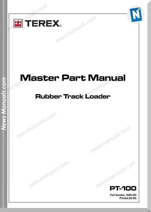 Terex Track Loaders Pt-100 Master 2010 Part Manual