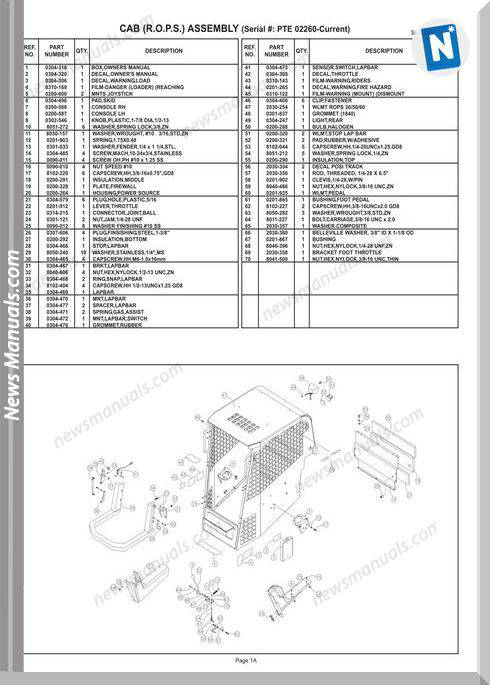 Terex Track Loaders Pt-60 Mstr-Parts 10-09 Part Manual