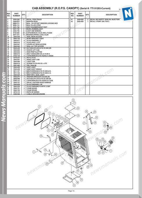 Terex Track Loaders Row Pt-80 Mstr 10-21-08 Part Manual