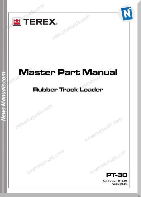 Terex Track Loaders Us Terex Pt-30 12-09 Part Manual