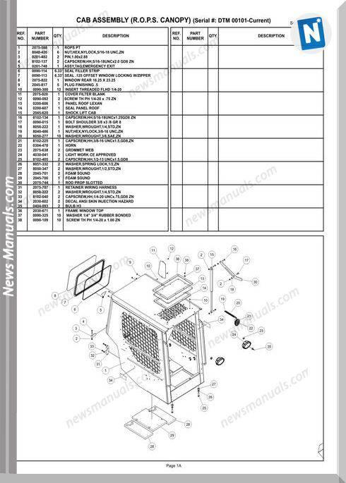 Terex Track Loaders Us Terex Pt100 G Master Part Manual