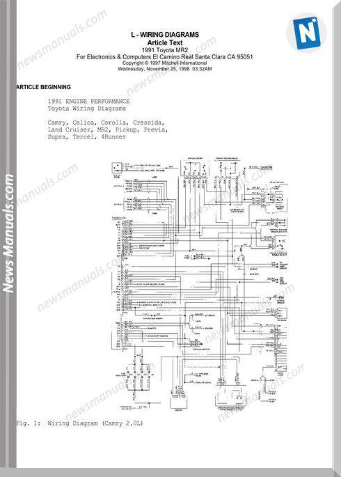 Toyota 1991 L Wiring Diagrams