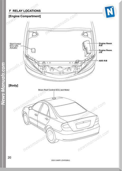 Toyota Camry 2005 Electrical System586U