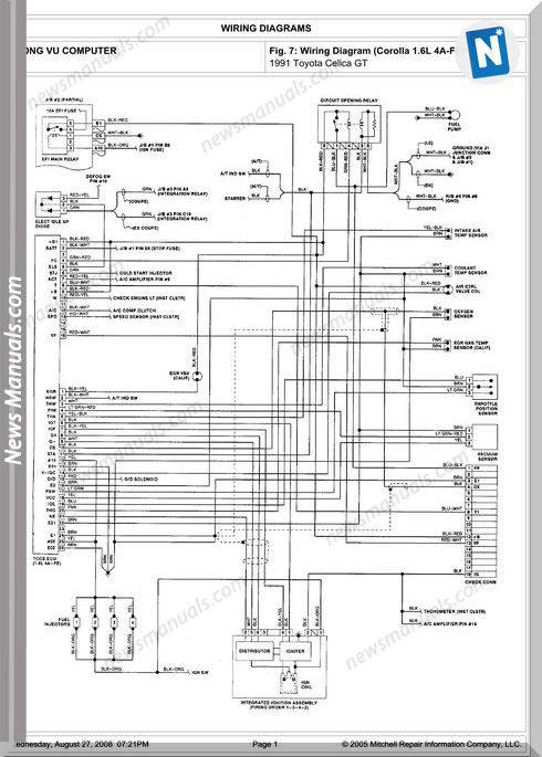 Toyota Celica Gt 1991 Engine 4A-Fe 1.6L Repair Manual