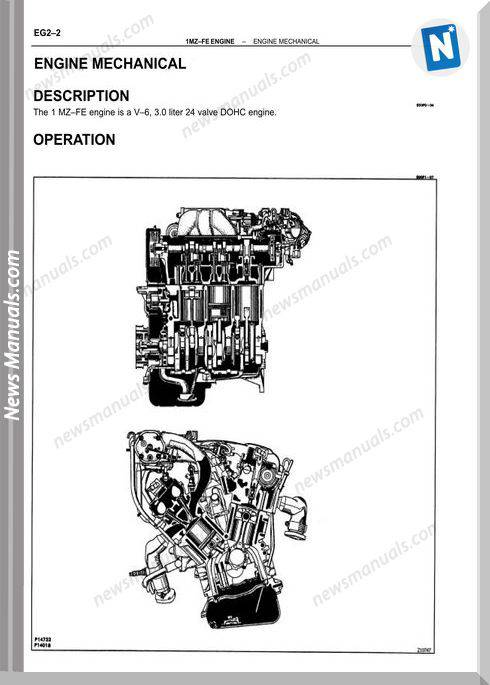 Toyota Engine 1Mz Fe Repair Manual