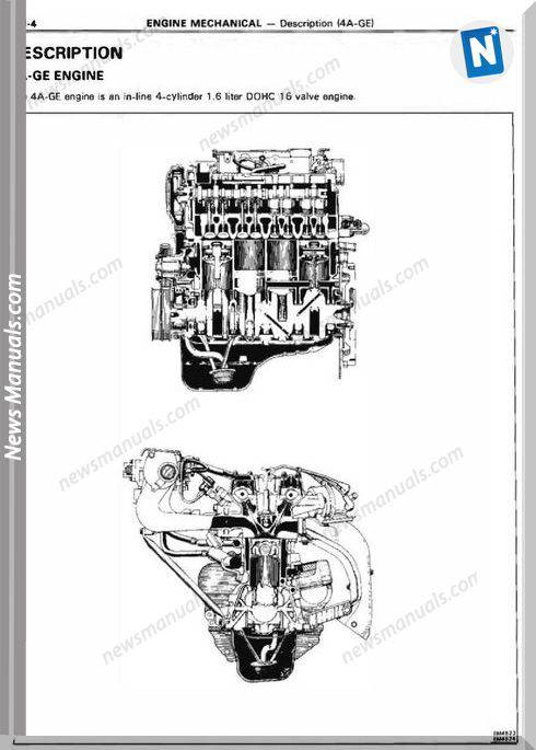 Toyota Engine 4A F 4A Ge Repair Manual