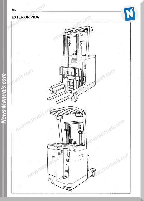 Toyota Forklift 7Fbr10-18 Models Cd1 Repair Manual