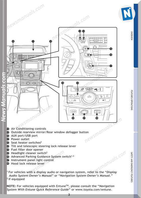 Toyota Prius V 2013 Hybrid Owners Manual