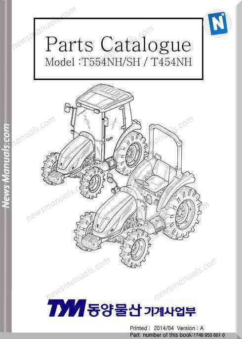 Tym T454 T554 Hst Parts Manual