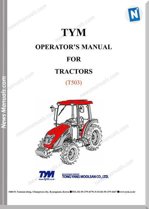 Tym T503 Models Operation Manual