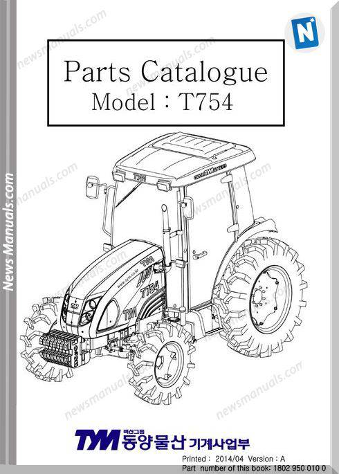 Tym T754 Models Parts Manual