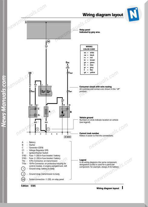 Volkswagen Passat Official Wiring Diagrams 1995