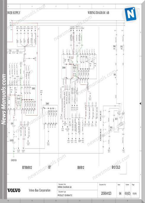 Volvo Bus B7 B9 B12 Wiring Diagram 2
