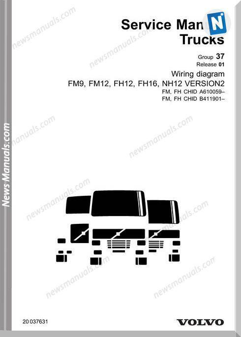 Volvo-Fm9 Fm12 Fh12 Fh16 Nh12 V2 Wiring Diagram