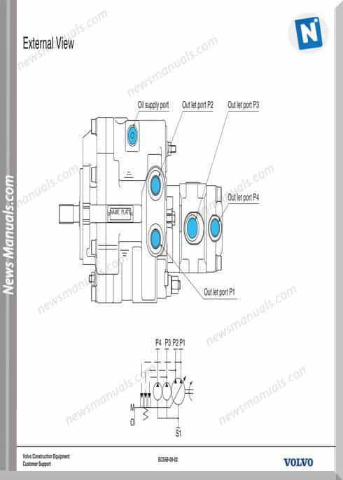 Volvo Training Ec55B-09 Hydraulic Pump