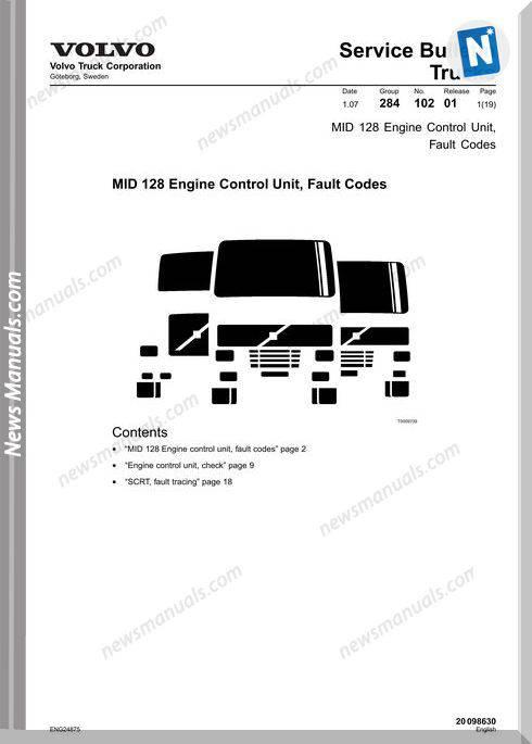 Volvo Trucks Mid 128 Engine Control Unit Fault Codes 2