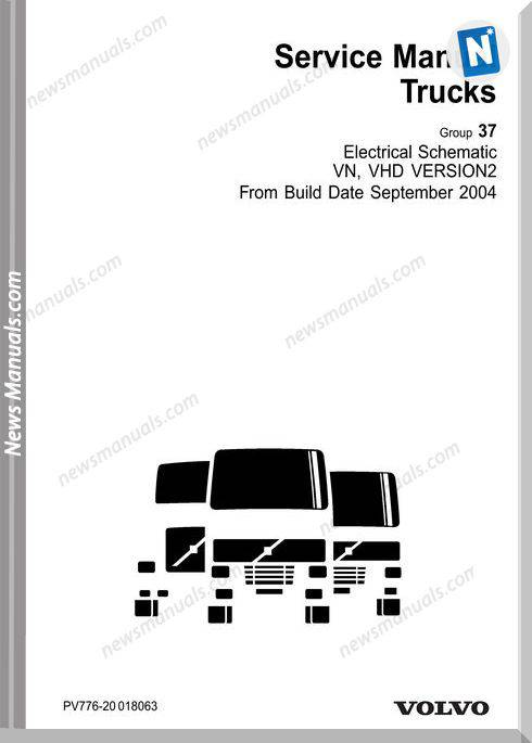 Volvo-Vn Vhd Cd2 Electrical Build Date 9.04 Schematic