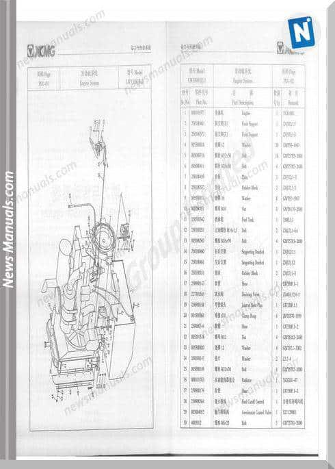 Xcmg Lw300F Parts Catalog F Wm