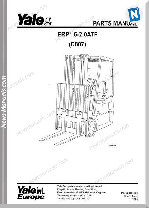 Yale Erc Erp Atf D807 524150863-[D807E]-Part Manual