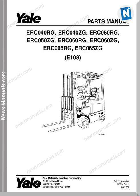 Yale Erc-Rg-040-050-065 Zg-040-050-060-065 (E108) Parts