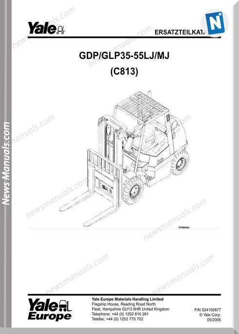 Yale Forklift C813E 05 2005 Y-Pm-Uk-De Part Manual