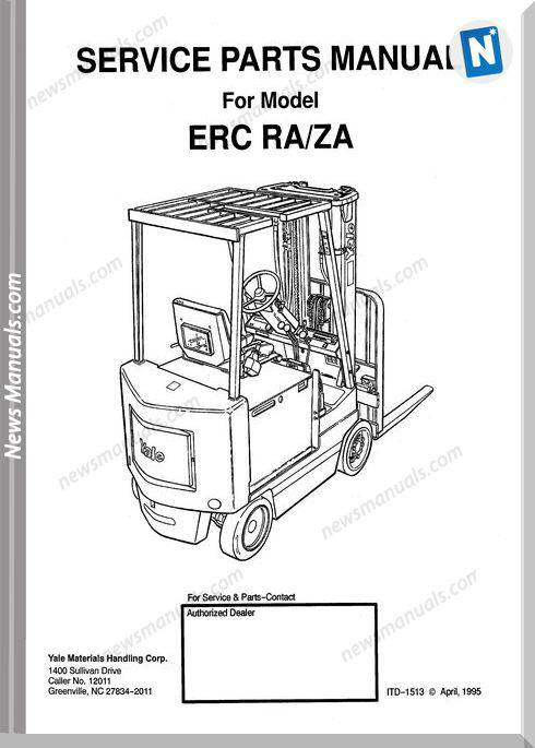Yale Forklift Erc Ra-Za Models Service Parts Manual