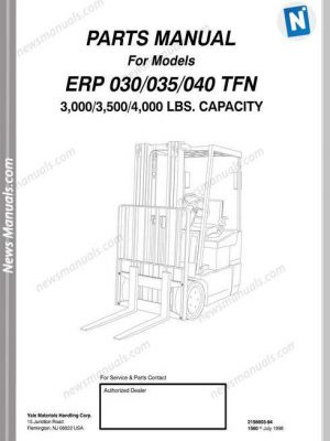 Terex Lift Tx66-22 Parts Manual