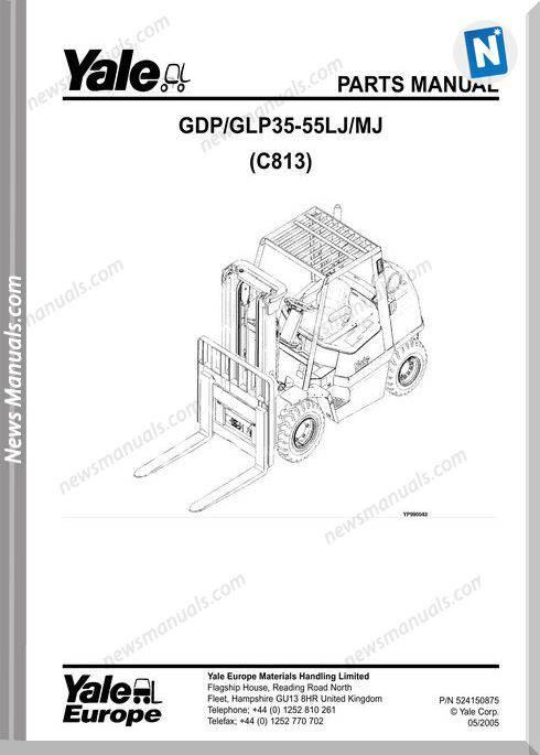 Yale Forklift Lj-Mj [C813E]-524150875 Part Manual