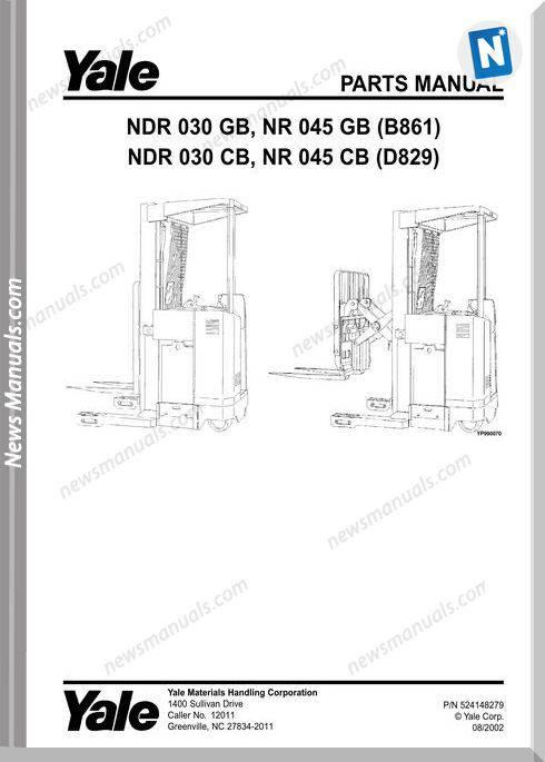 Yale Forklift Nrd-Gb-030, Nr-Gb-045 (B861) Nrd-Cb-030, Nr