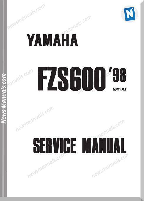 Yamaha Fazer Fzs600 1998 Service Manual