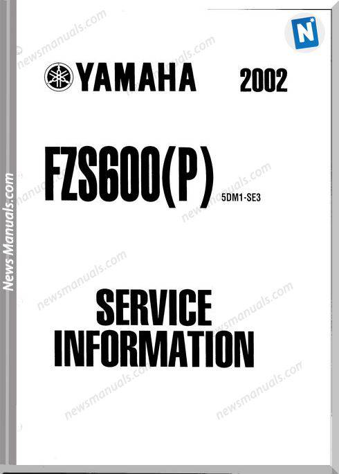 Yamaha Fazer Fzs600(P) 2002 Service Manual