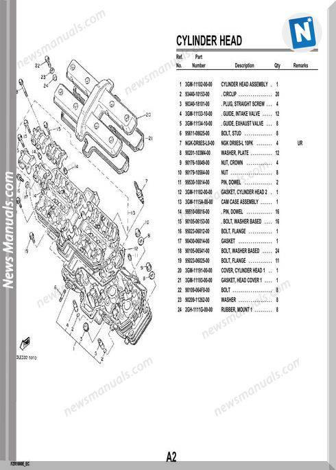 Yamaha Fzr1000 93 Parts Catalog