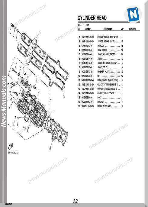 Yamaha Fzr400Swc 89 Parts Catalogue