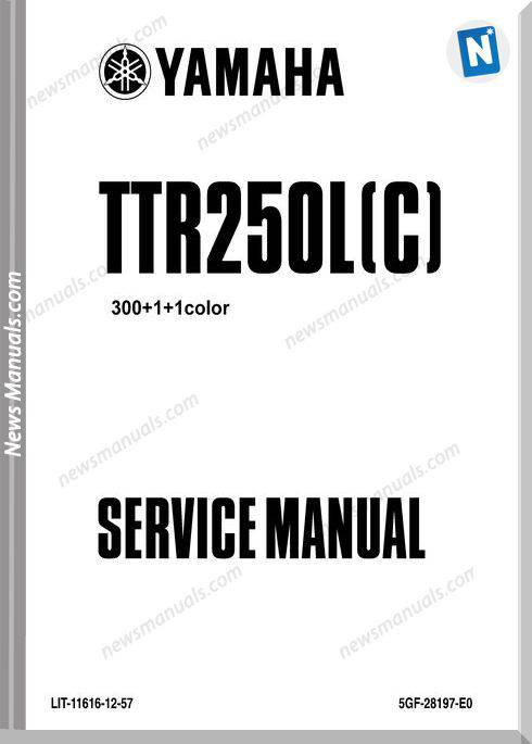 Yamaha Ttr250L 99 Service Manual