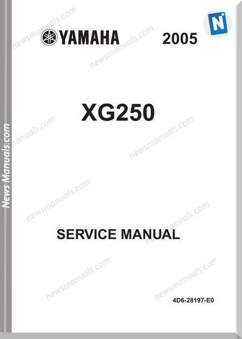 Yamaha Xg 250 05 Service Manual