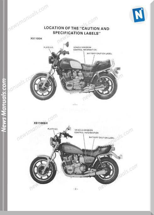 Yamaha Xs1100 Owners Manual