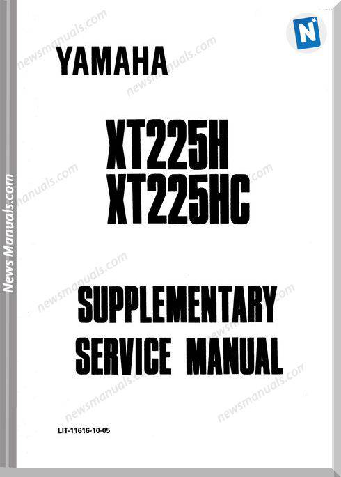 Yamaha Xt225 Service Manual