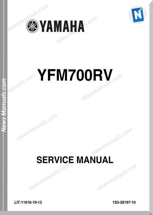 Yamaha Yfm700Rv Raptor Service Manual