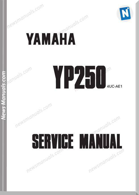 Yamaha Yp250 1995 1999 Service Manual