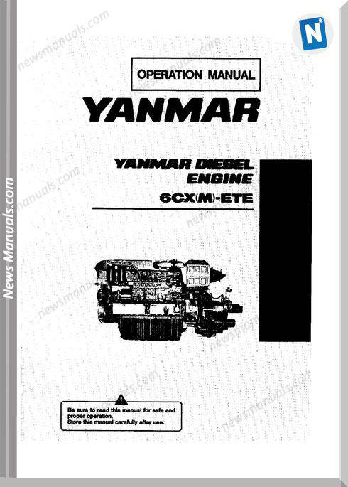 Yanmar 6Cx-Ete M Marine Diesel Engine Operation Manual