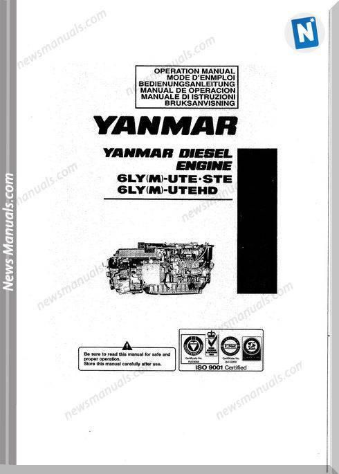 Yanmar 6Ly M Ute Models Diesel Engine Servcie Manual